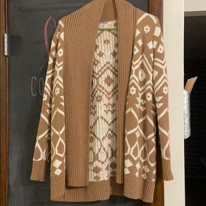 Tribal Open front Cardigan